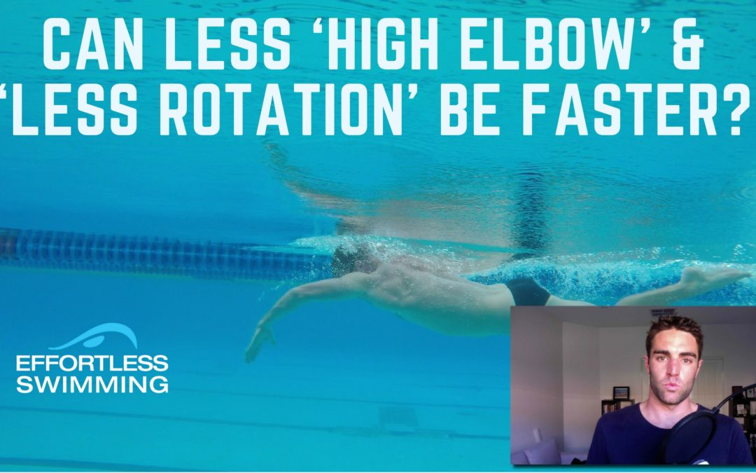 Can Less 'High Elbow' & 'Less Rotation' Be Faster?