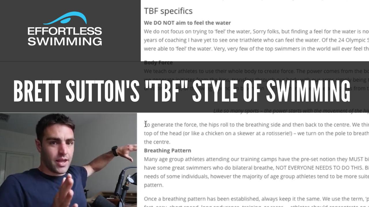 """Brett Sutton's """"TBF"""" Style Of Swimming"""